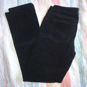 Black Corduroy Straight Leg Pants